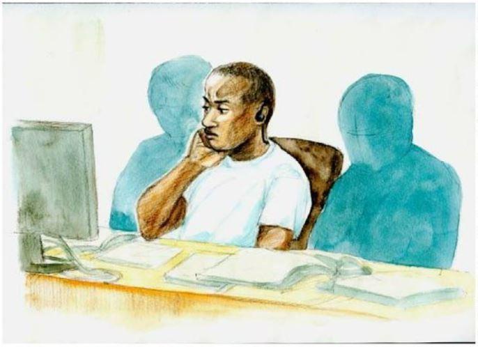 元米兵初公判:ほおづえで黙秘貫く 遺族、凄惨犯行に涙