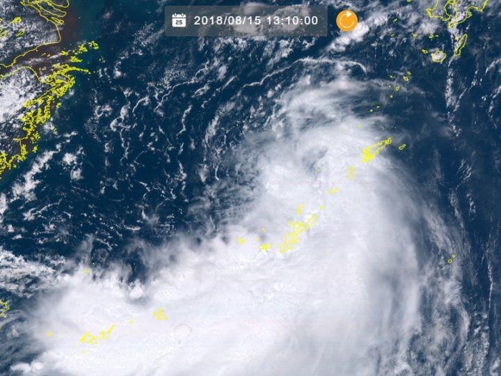 台風18号(ルンビア)沖縄・久米島近海で発生 東シナ海を北上