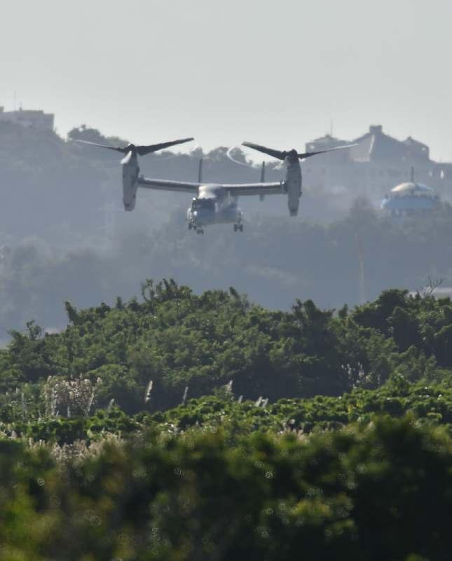 オスプレイ飛行再開 普天間から2機離陸