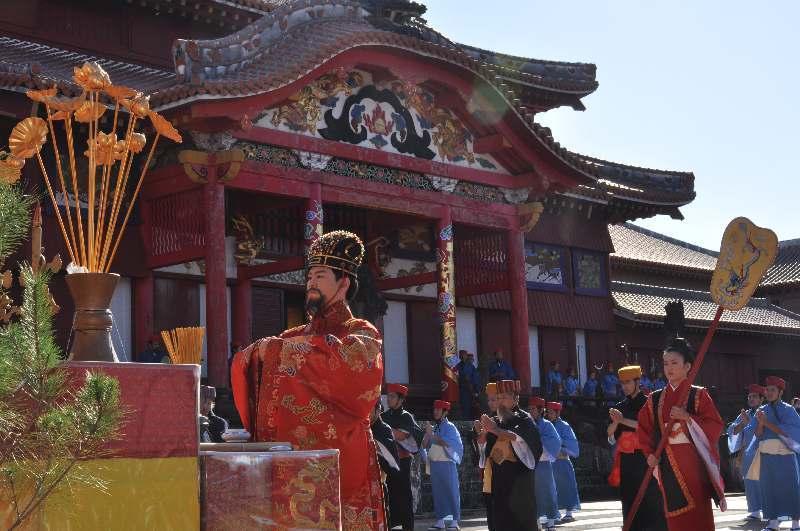 琉球王国の初春、華やかに再現 首里城公園で正月儀式「朝拝御規式」