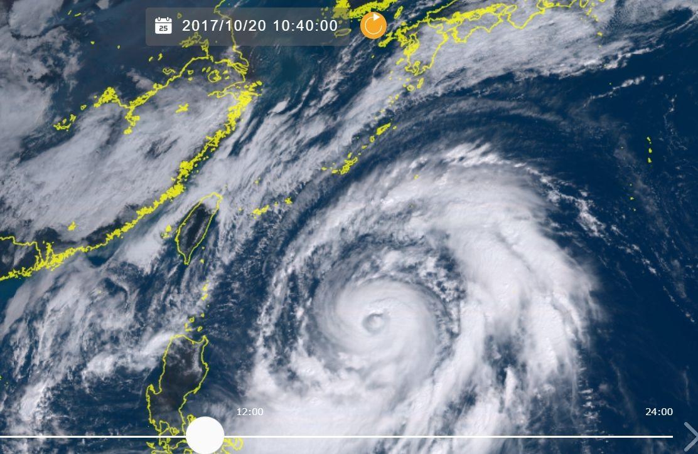 台風21号、発達しながら沖縄へ 22日に最接近