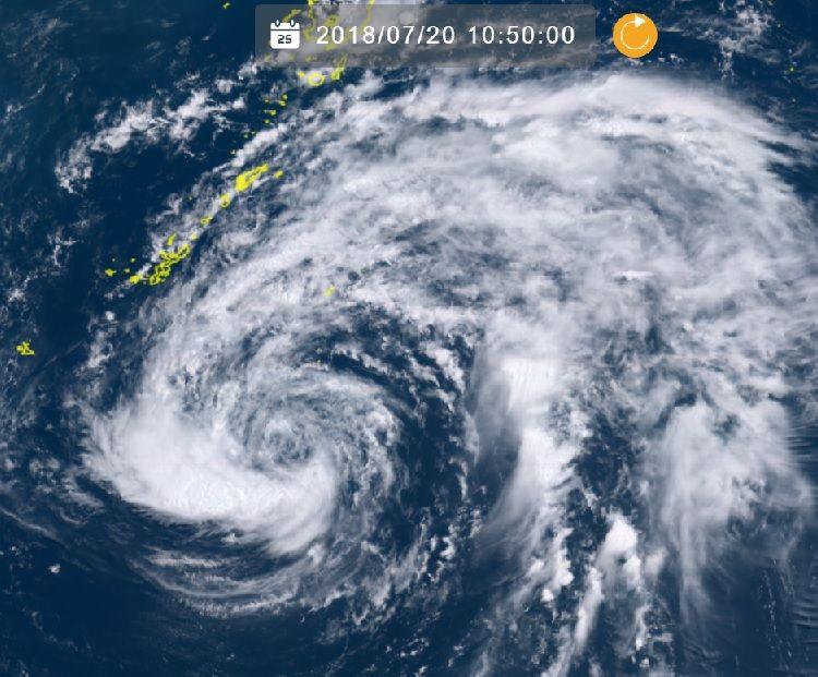 台風10号:沖縄本島地方、21日午前0時にも暴風域 正午ごろに抜けるか?