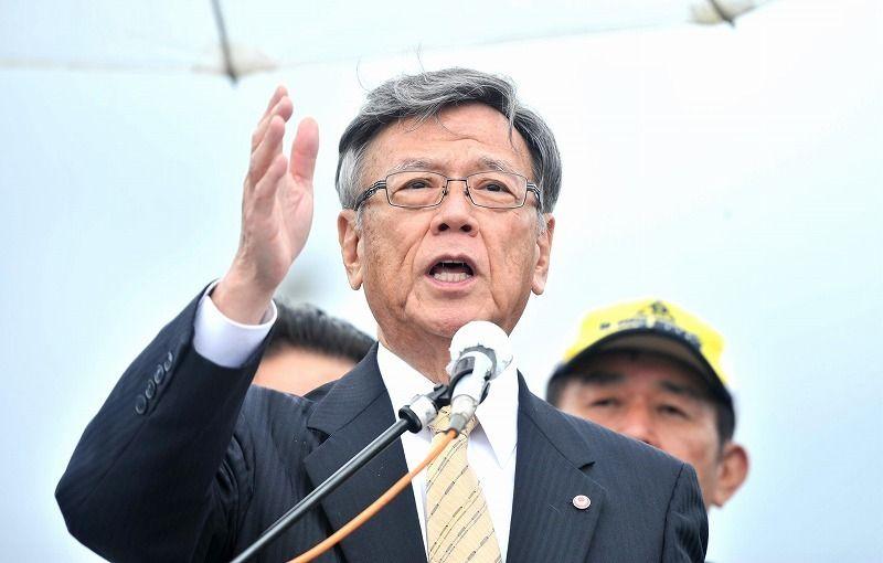 翁長知事、辺野古埋め立て承認撤回を初明言 県民集会に3500人参加