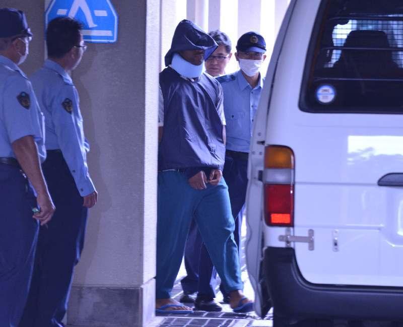 飲酒死亡事故の米兵、那覇地検に送致 沖縄県警