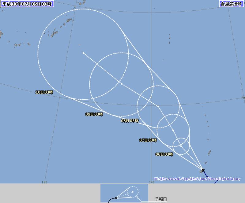 台風8号(マリア)発生 発達しながら沖縄接近か